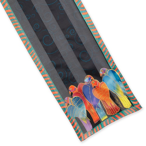 Laurel Burch Silk Scarf - LBS205 Brazillian Birds Oblong Scarf  23.99 each 44d5985651fbd