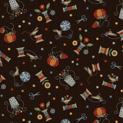 Maywood Sew Purrfect FLANNEL by Bonnie Sullivan MASF 8317 JA Espresso  Notions Toss  10.90 yd 3788d8f47