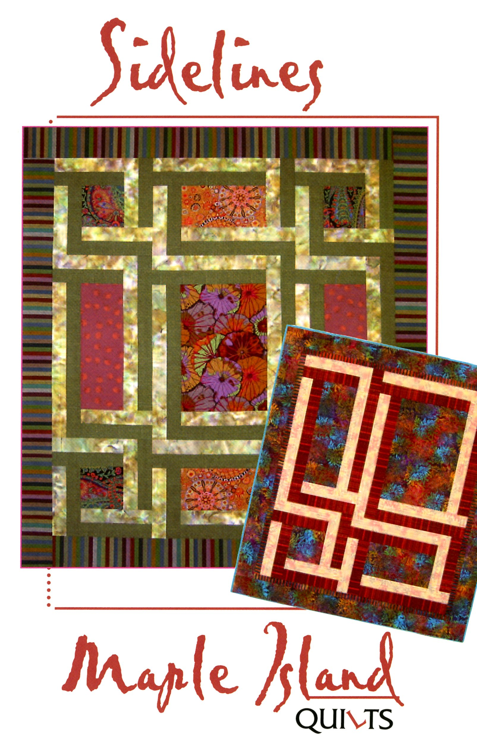 maple island quilts sidelines pattern miq154 799each