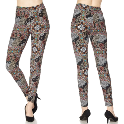 99688aff9aa243 Magic Scarf Brushed LEGGINGS PLUS Size N259 MULTI $13.50/each