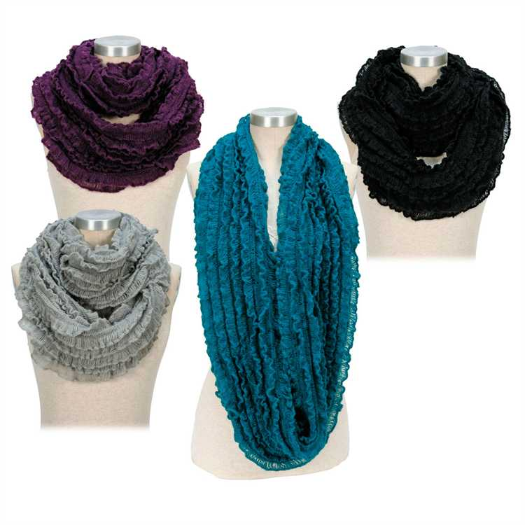 Passion for Fashion Surci Infinity Ruffle Scarf PF3310 $12 /$7.95 each scarf