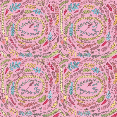 Heather Bailey PWHB047 Up Parasol Meadowlark Pink Fabric By The Yard