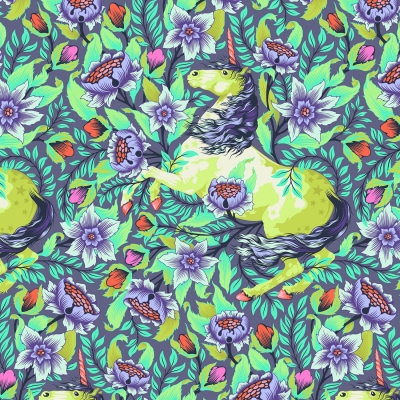 Chipmunk Cameo Haven Aquamarine by Stacy Peterson Cotton Fabric