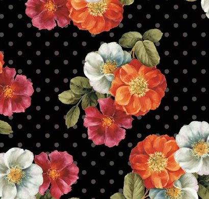 980286d1a Wilmington Garden View by Lisa Audit 86331 981 Anemone Toss Black $9.50/yd