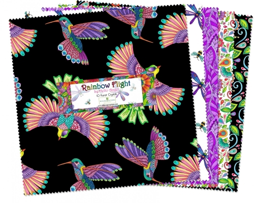 "Wilmington Rainbow Flight by Hello Angel 518 584 518 10"" Squares $40.99/each PREORDER DUE JULY/AUG '19"