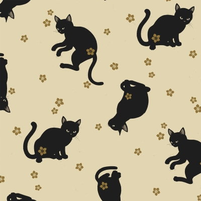 A Merry Halloween Black Cat Quilt Block Multi Sizes  FrEE ShiPPinG WoRld WiDE
