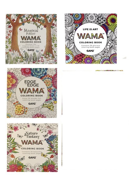 WAMA Coloring Book By Ganz SET OF 4 Books 28 Each Set Of