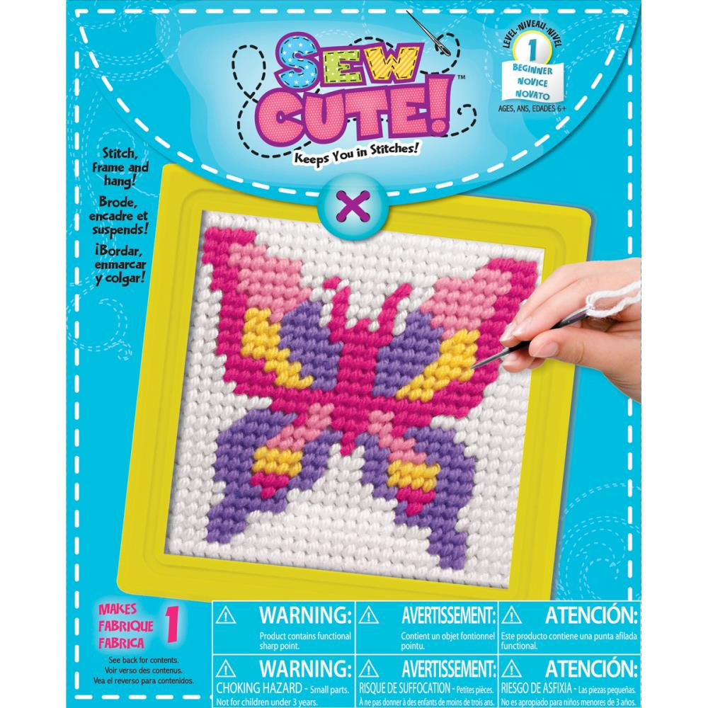 Sew Cute BUTTERFLY Stitching Kit 02345ta Needlepoint For Kids 495 Each