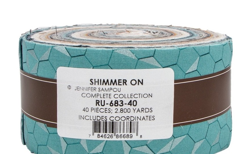 American Made Brand Cotton Solids Mist Gray Strip Roll 40 2.5-inch Strips Jelly Roll