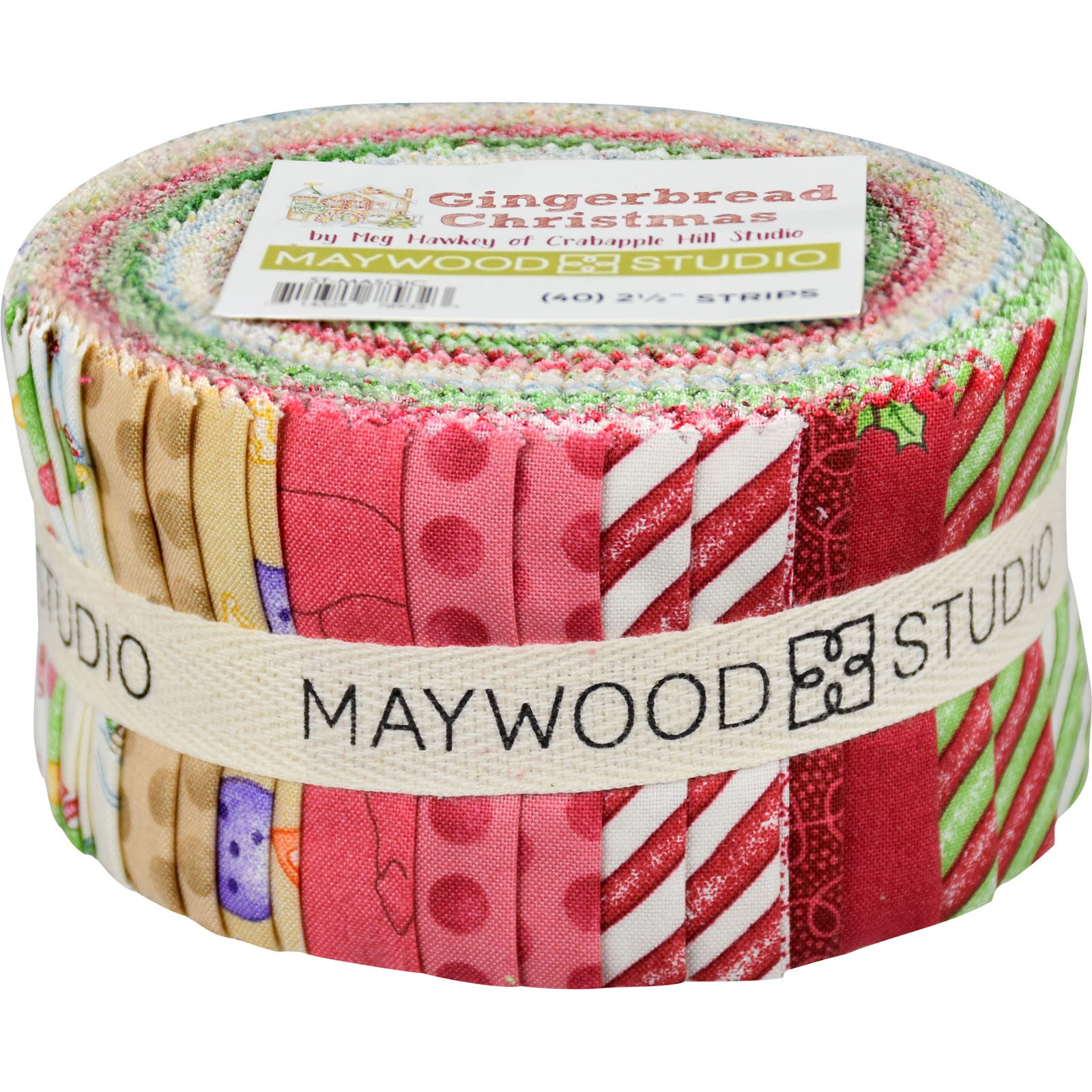 981a78dfee48aa Maywood Gingerbread Christmas by Meg Hawkey ST-MASGIC 40 PIECE JELLY ROLL 2  1 2