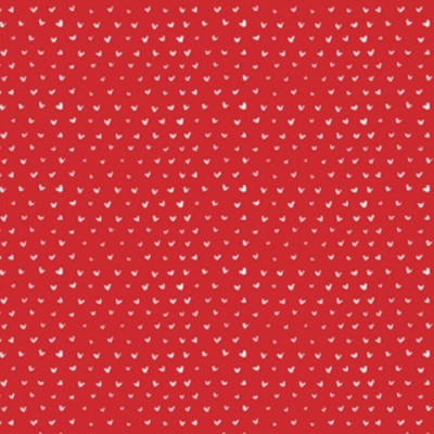 4bb974368f8ad Dear Stella Hearts by Wee Gallery ST WG 301 Tomato Hearts $10.50/yd  PREORDER DUE JULY/AUG '19
