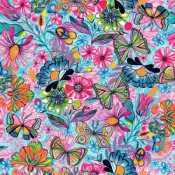 Over the rainbow 3 wishes magic garden digital by car pintos 14646 turquoise butterflies flowers 1170yd preorder due janfeb 19 gumiabroncs Images