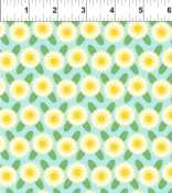 In the Beginning Deco State Flowers 19DSF1 Maine BTY COTTON