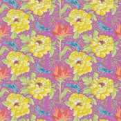 for Wilmington Prints BTY Scale Floral by Daphne B Purple Haze Med CLEARANCE