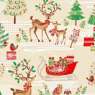 K/&Company DECK THE HALLS Stickers CHRISTMAS REINDEER TREE PRESENTS NEW