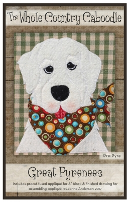 fcb1fa787 The Whole Country Caboodle WCCPRE PYRE Great Pyrenees Pre-cut Fused  Applique Pack  11.75 each