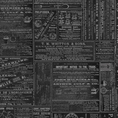 535d2635e6e Clothworks Time Travelers Memoirs by Iron Orchid Designs Y2079 03 Black  Print  9.90 yd