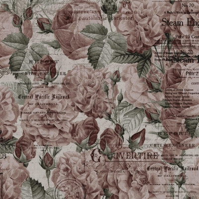ecb0582e76 Clothworks Time Travelers Memoirs by Iron Orchid Designs Y2082 47 Lt Wine  Roses $9.90/yd